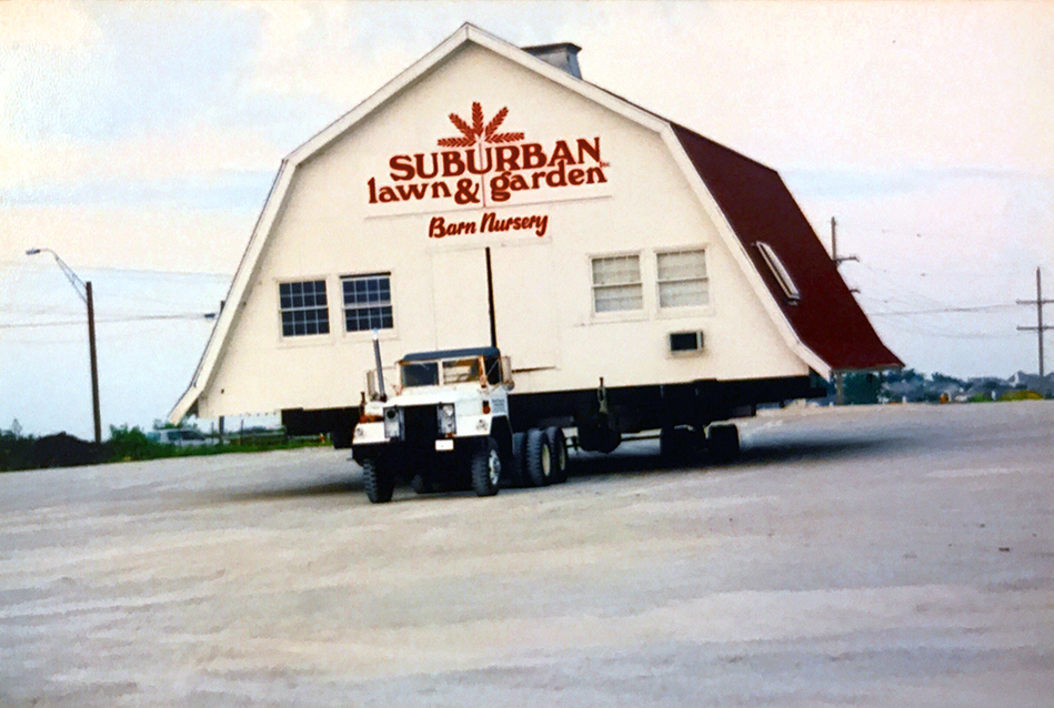 Nice In 2002, Suburban Lawn And Garden Took Its Historic Barn To The Streets.  Mounted On A Bed Of Massive Steel I Beams, The 4000 Square Foot, 50,000  Pound Barn ...